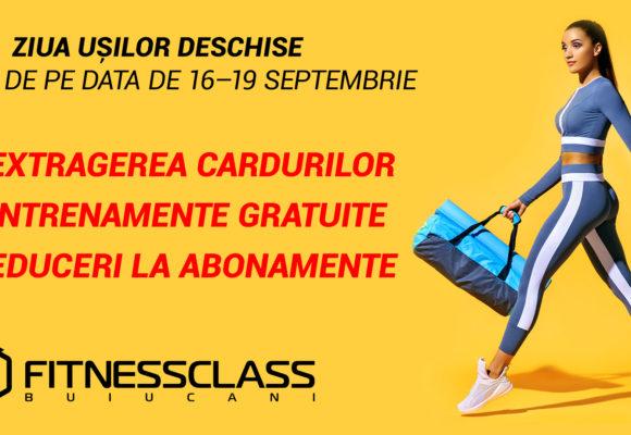 Prieteni, vă invităm să vizitați clubul FitnessClass în ziua ușilor deschise!